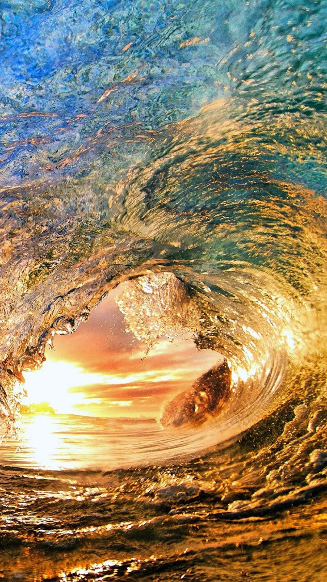 Sunset Sea Wave Nature Ocean Waves Waves