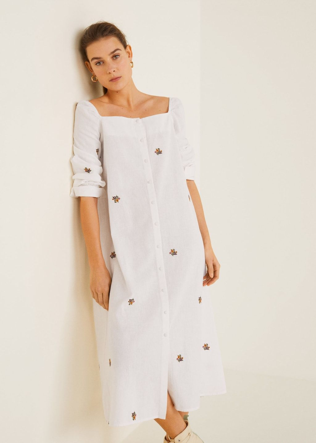 4f346ffe5c Flowers embroidered dress - Women in 2019