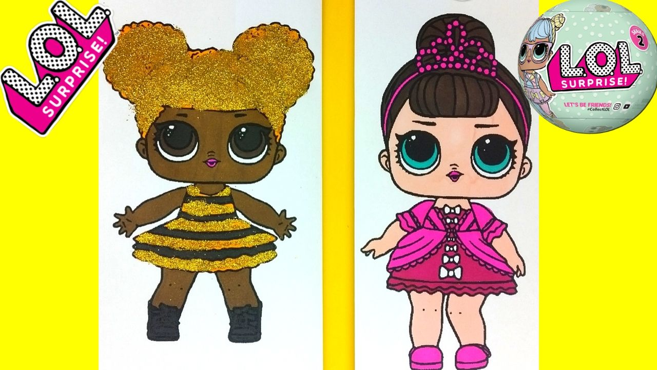 Lol Doll Coloring Pages Queen Bee News At Coloring Pages Api Ufc Com