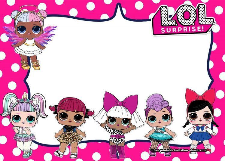 Free Lol Surprise Dolls Invitation Templates Free Printab