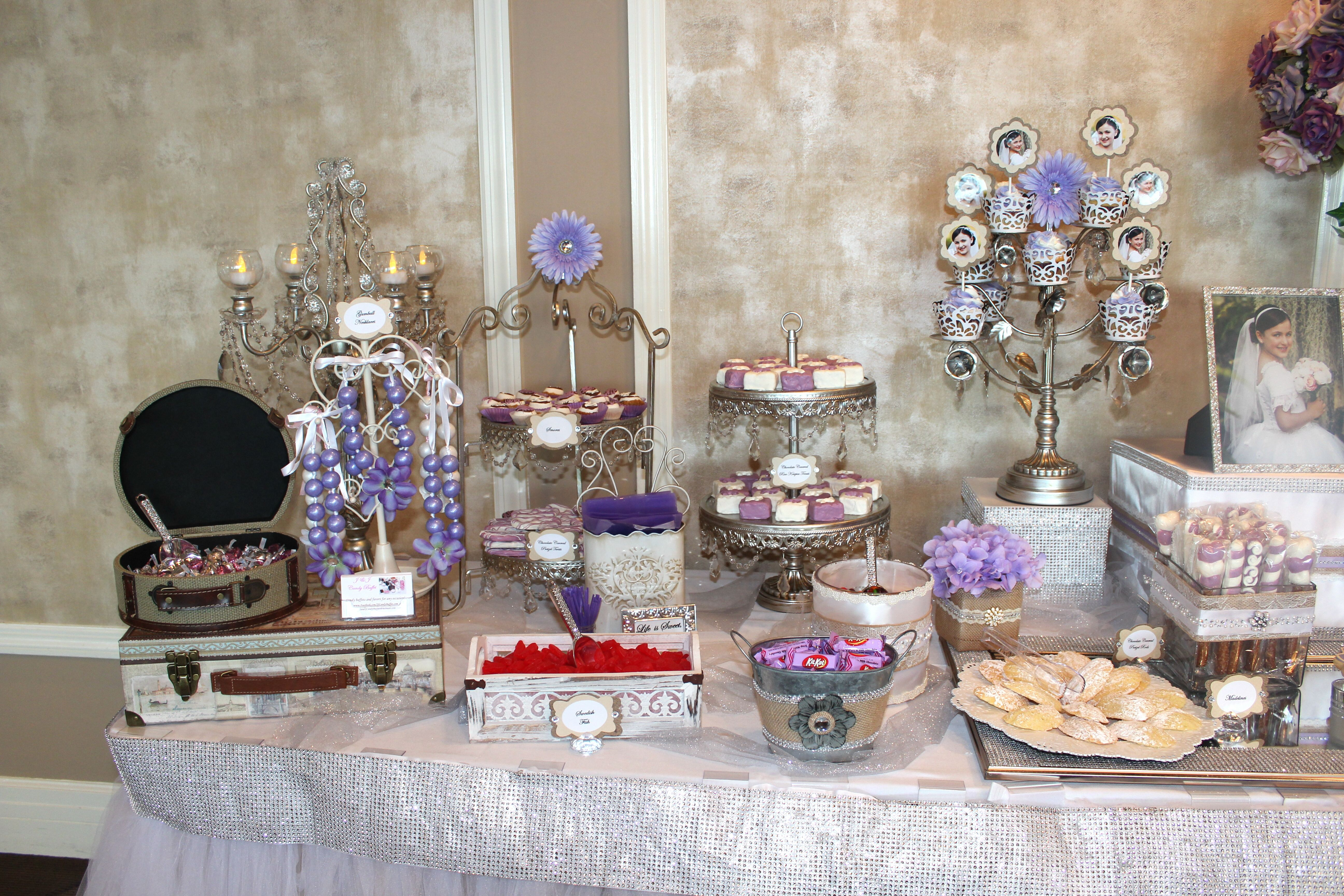 Vintage, dance themed candy table