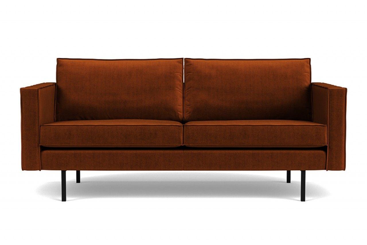 Sofa Rodeo 2 5 Sitzer Samt Rust In 2021 Sofa Wohnzimmer Sofa Ruckenkissen