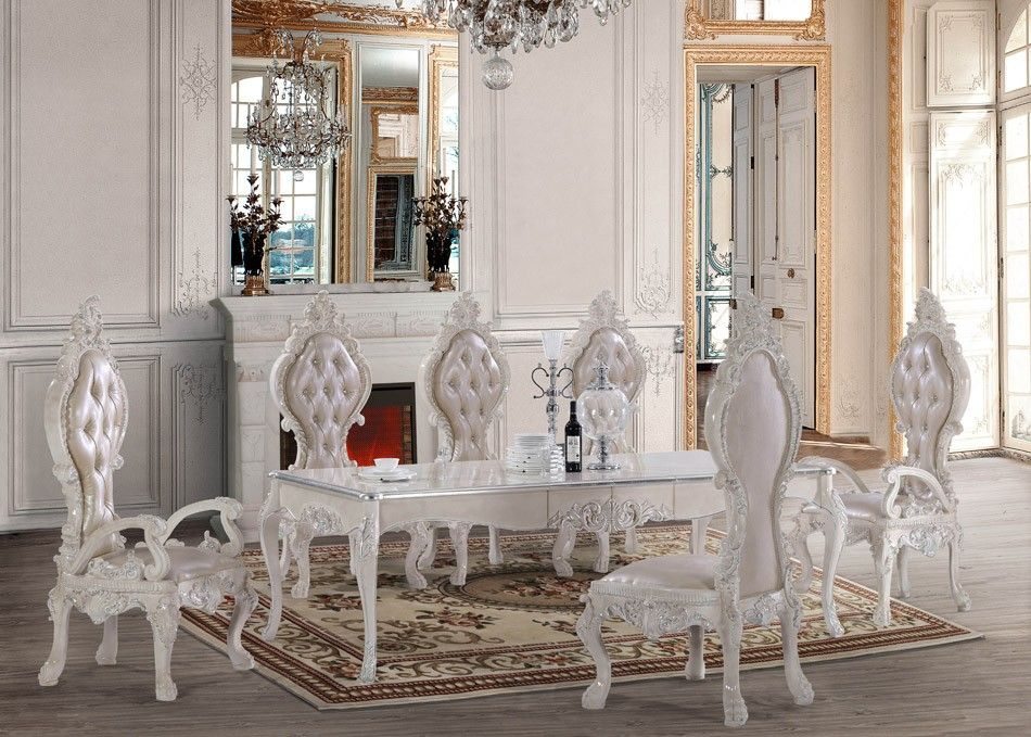 HD 13012 Dining Set Homey Design Victorian, European U0026 Classic Design Awesome Ideas