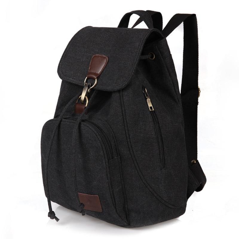 62b493232a0 Woman canvas backpacks female vintage bag fashion backpacks for ...