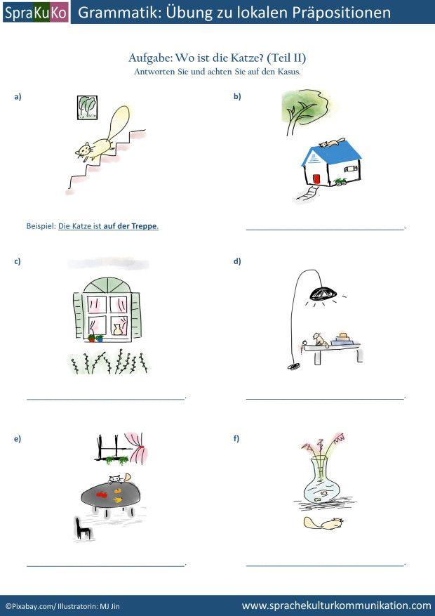 bung lokale pr positionen deutsch als fremdsprache exercises local prepositions german as. Black Bedroom Furniture Sets. Home Design Ideas