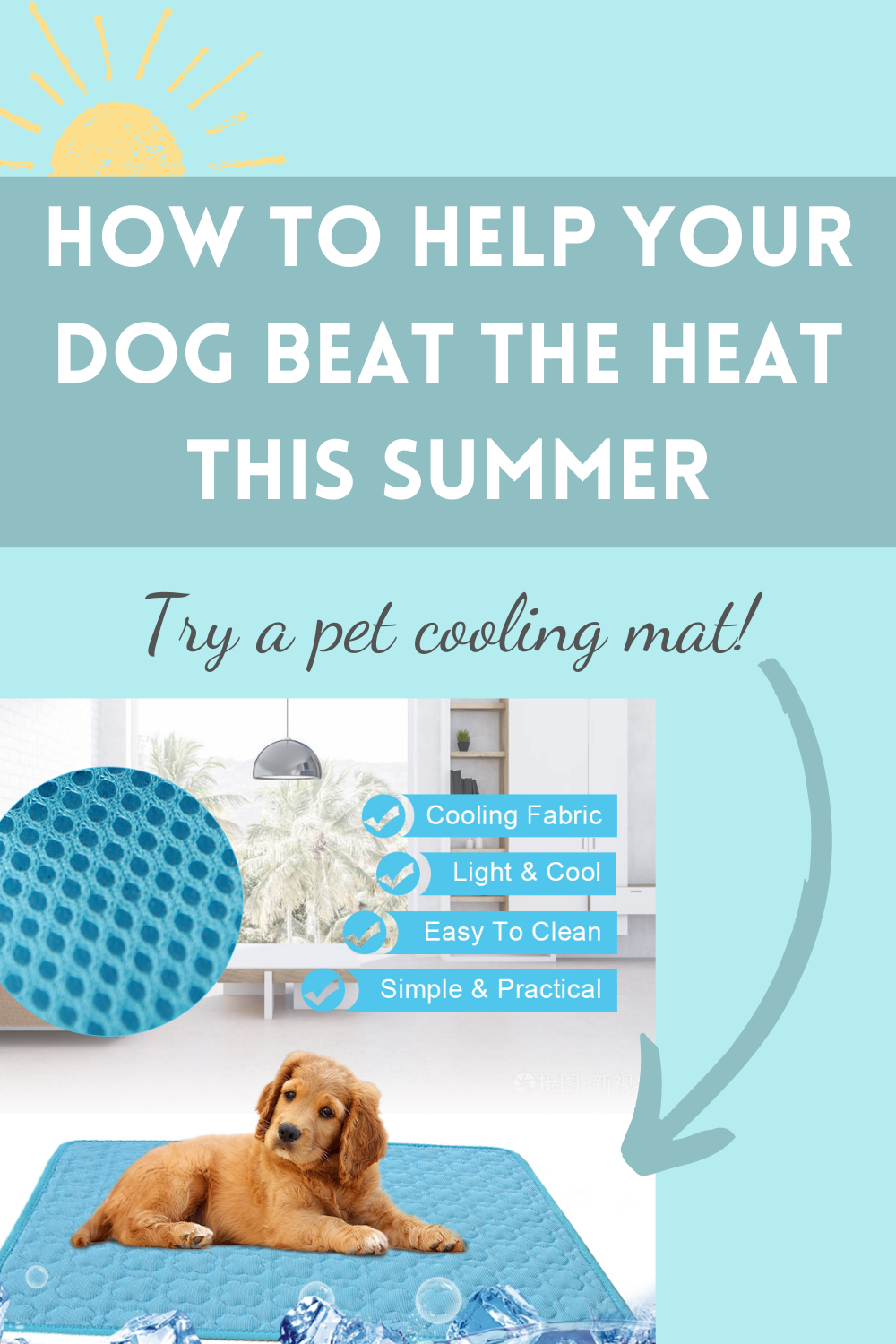 Keep Your Dog Cool This Summer Pet Cooling Mat For Heat Relief In 2020 Summer Dog Pets Your Dog