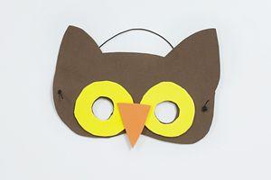 eulen maske basteln heulende eulen pinterest masken basteln masken und eule. Black Bedroom Furniture Sets. Home Design Ideas