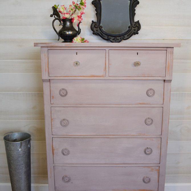 Tall Lavender Vintage Dresser 8211 325 Vintage Dressers Upcycled Home Decor Recycled Furniture