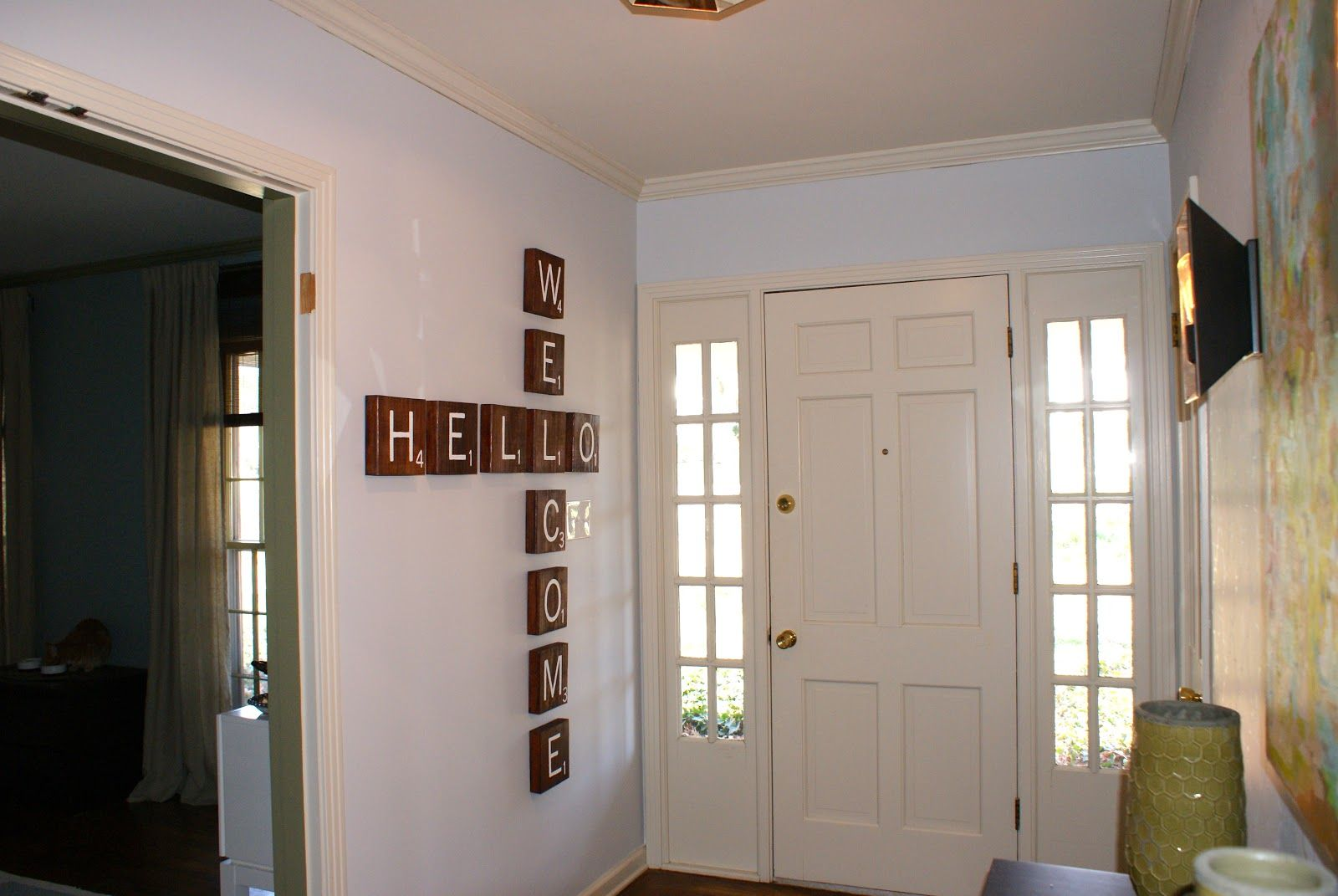 Wall Painting Designs For Hall Some Like A Project Scrabble Tile Wall Art Wall Art