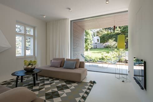 Sanierung Jugendstilvilla in Perchtoldsdorf von illiz architektur - architekt wohnzimmer