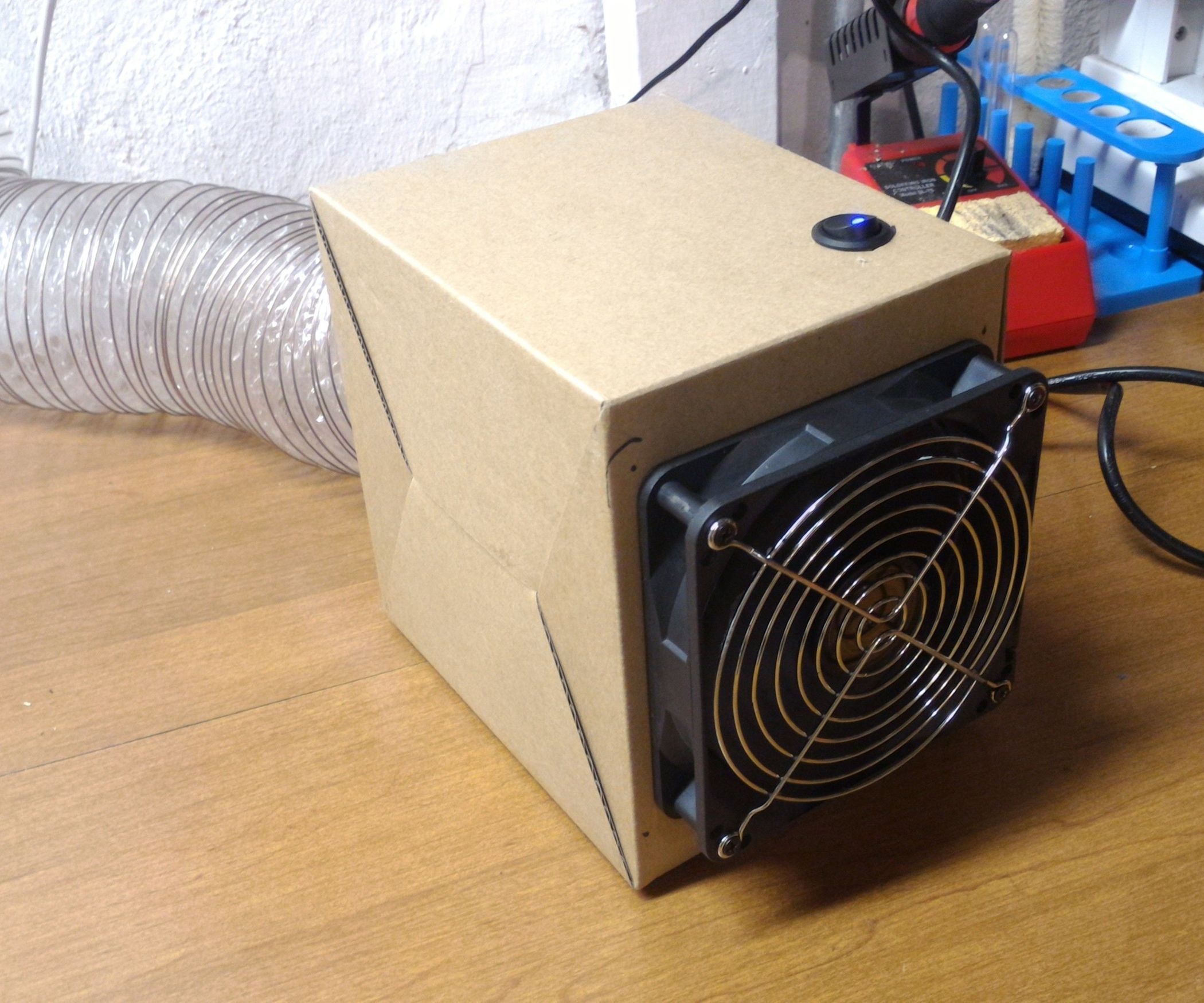 Diy solder fume extractor box diy soldering fumes