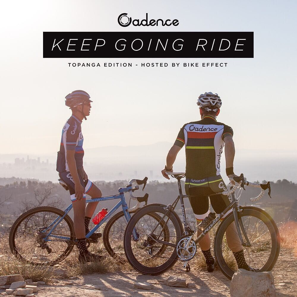 "This Sunday 11/22 join @cadencecollection and @bikeeffect for a ride in Topanga. This is our first in a series of ""Keep Going"" rides. Route: Start at Bike Effect > ride up Topanga > Old Topanga > across Summit to Summit(one mile of dirt) > to the top of Topanga > and back down to Bike Effect for Bay Cities subs and beers.  8am: Coffee at Bike Effect 8:30: Roll 12:00: Back to Bike Effect for Beers  Food  Strava Route: http://bit.ly/1HS44LU by cadencecollection"