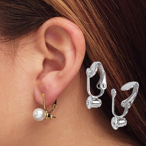 6 Pairs of Women Clip-on Earrings Converter with Easy Open Loop Rose gold
