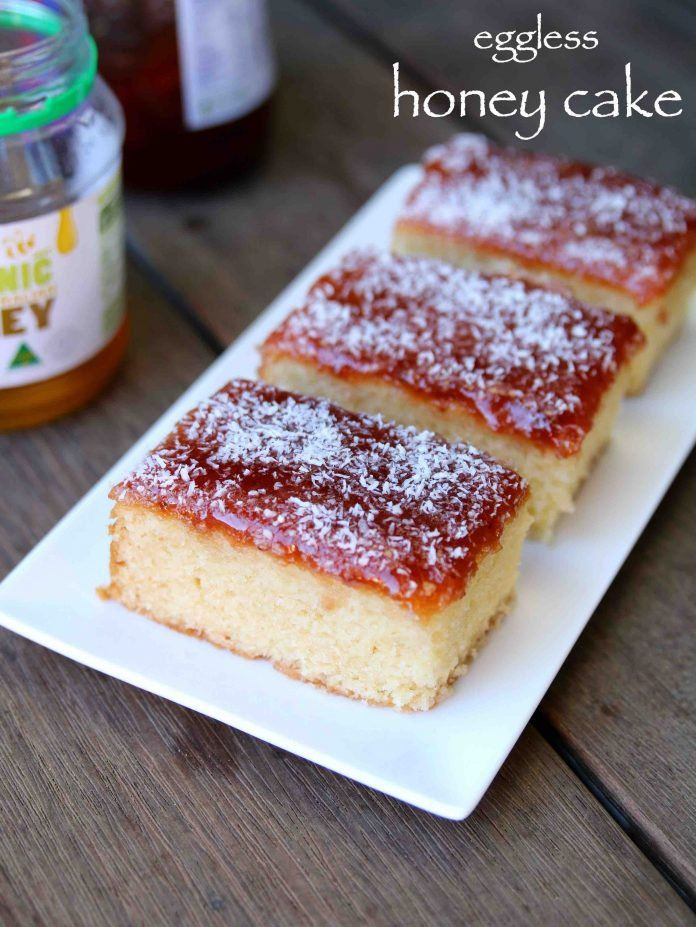 honey cake recipe   how to make eggless bakery style honey cake