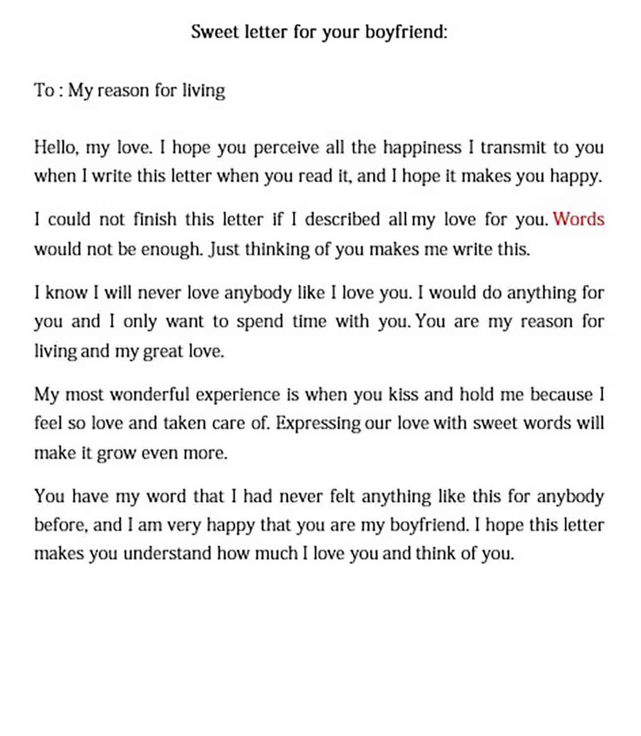 love letter to your boyfriend in 2020 | Letters to