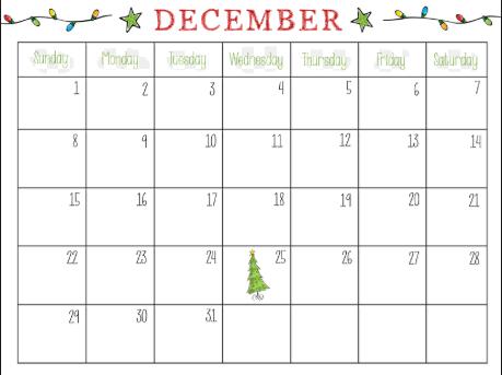 Free December 2019 Calendar PDF Word Excel Templates ...