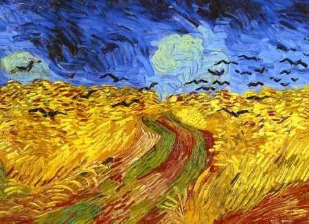 Korenveld Laatste Schilderij Door Vincent Van Gogh Gemaakt Voordat