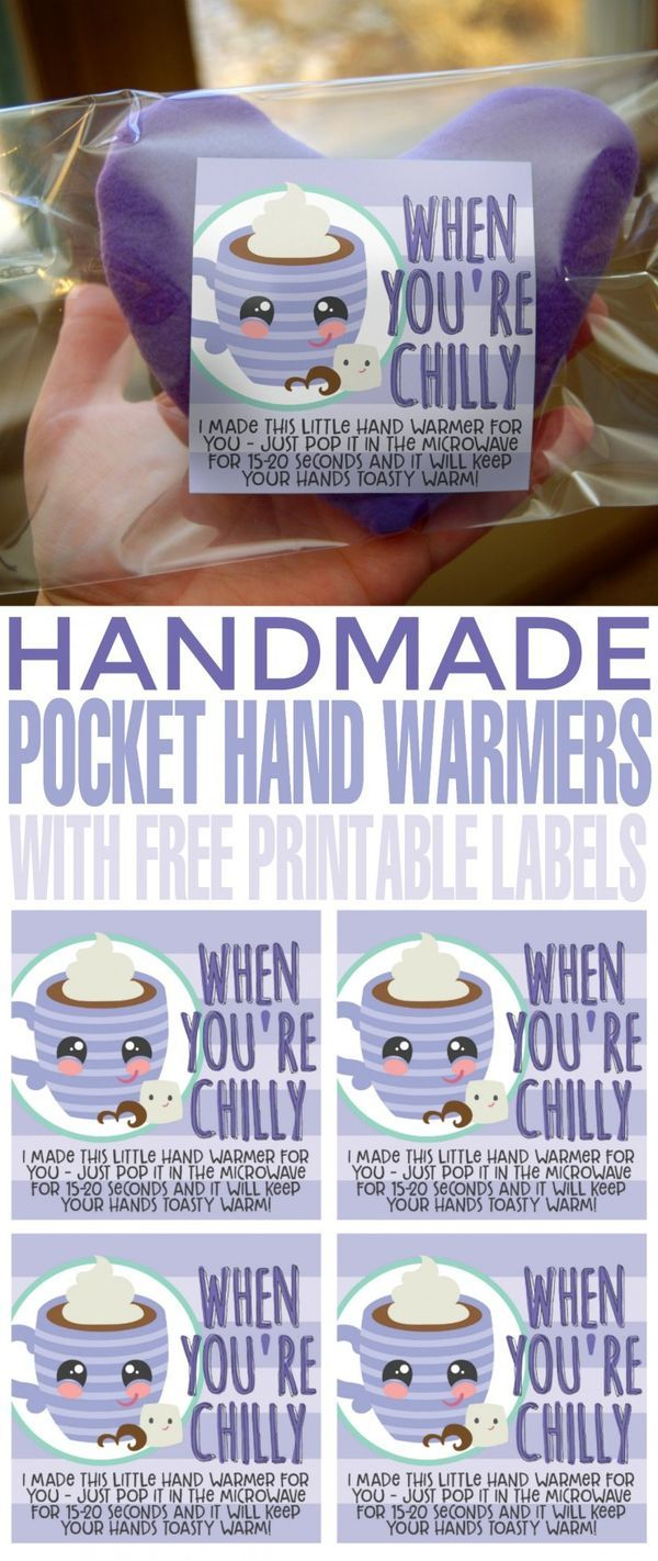 DIY Pocket Hand Warmers with Free Printable Label   Hand ...