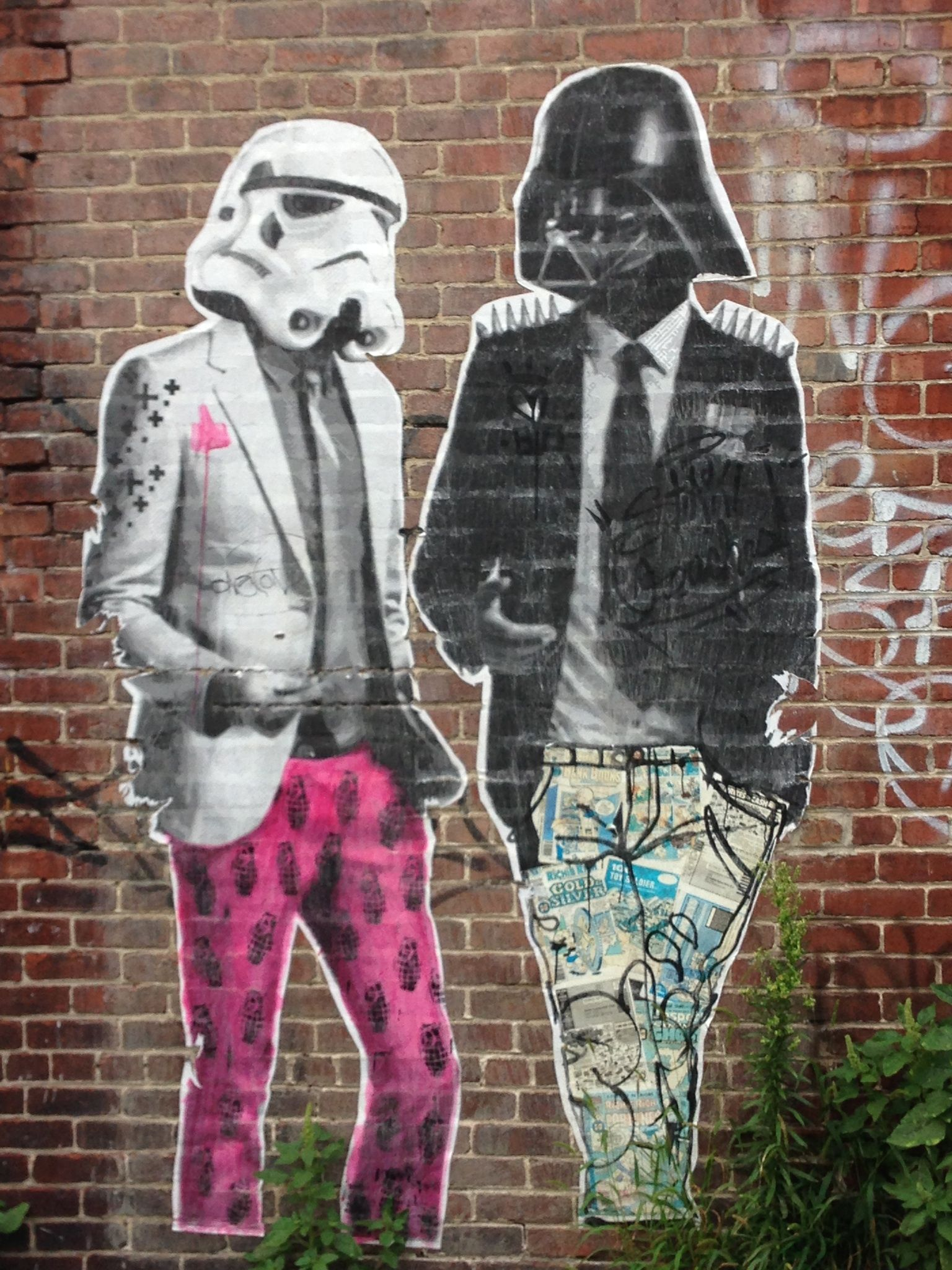 Hipster Darth Vader Street Art Banksy And Other Street Artists - People cant decide if theyre ok with this street artists ironic messages