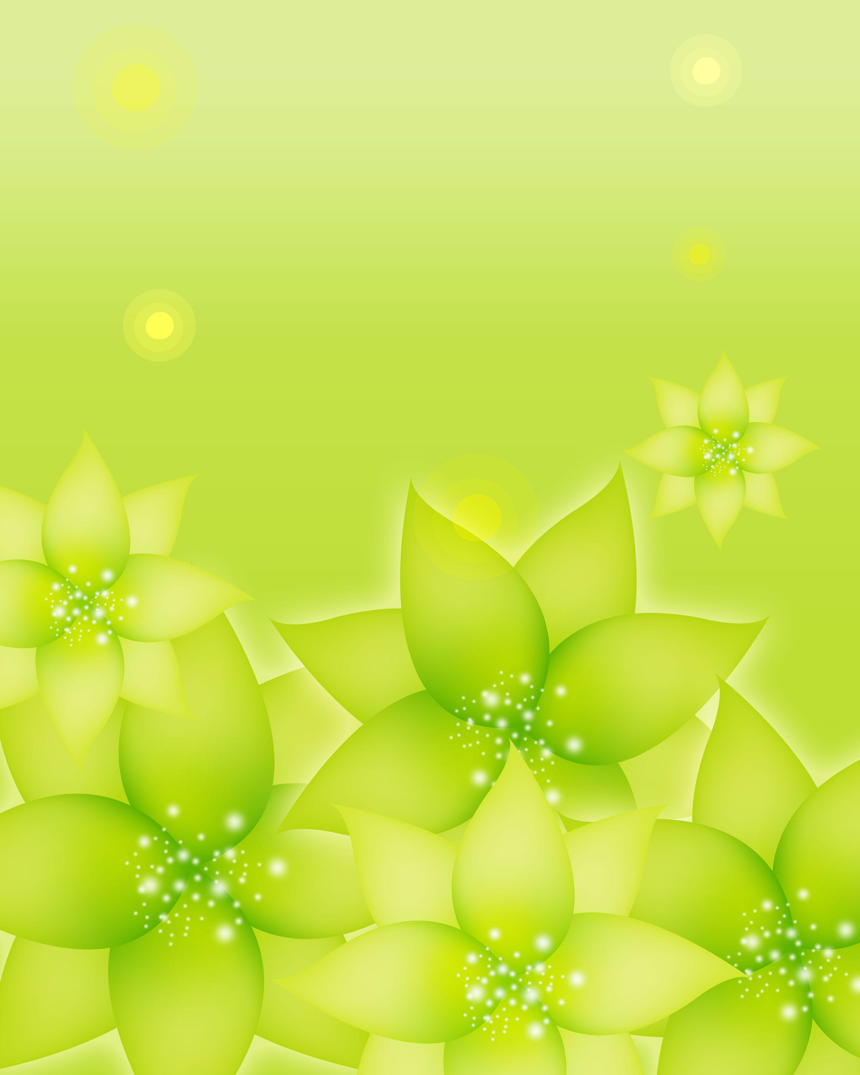 葉っぱの背景 壁紙イラスト 黄緑 光彩 光の粒 壁紙 イラスト