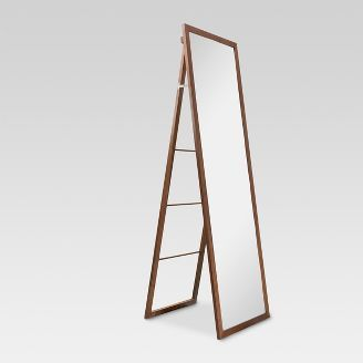 Mirrors Target Floor Mirror Wood Ladder Standing Mirror