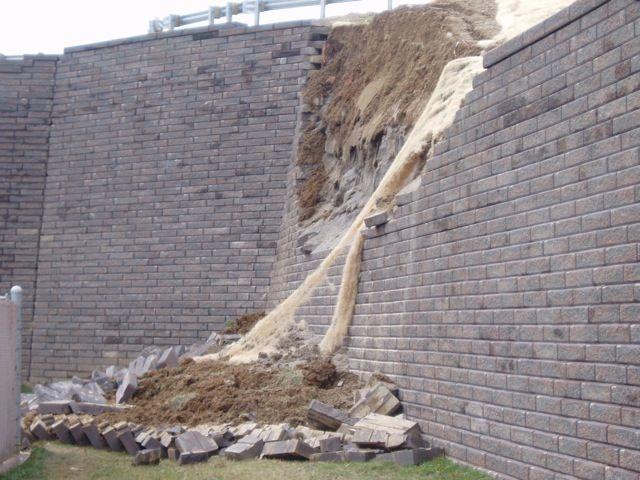 Sliding Retaining Wall : Retaining wall failure overturning sliding sinking