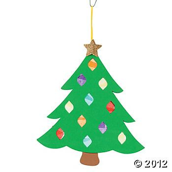 Tissue Paper Christmas Tree Craft Kit Christmas Tree Crafts Christmas Ornament Crafts Crafts