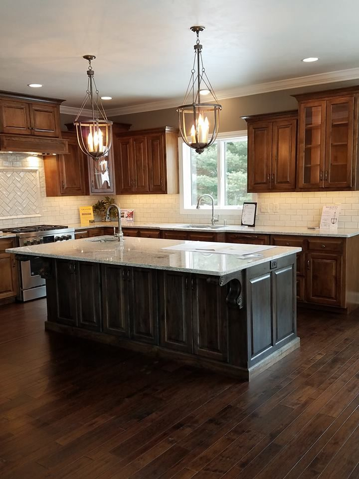 a nice large kitchen with an island