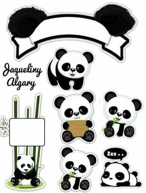 Panda Free Printable Cake Toppers. | Oh My Fiesta! in english ...