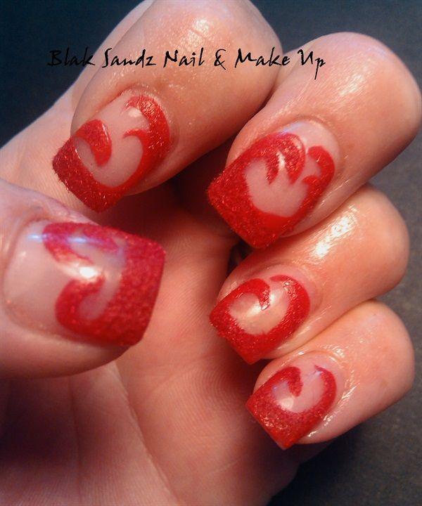 Go Red for a Good Cause | Nails magazine, Red nails and Art nails