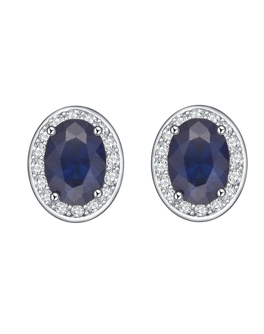 #AdoreWe #VIPme Earrings - SH-STAR HARVEST Charm Ellipse Bright  Zircon Earring - AdoreWe.com