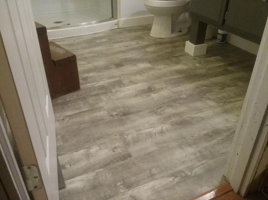 Our Hall Bathroom Grey Vinyl Plank Flooring Beautiful Bedding Sets Luxury Vinyl Plank