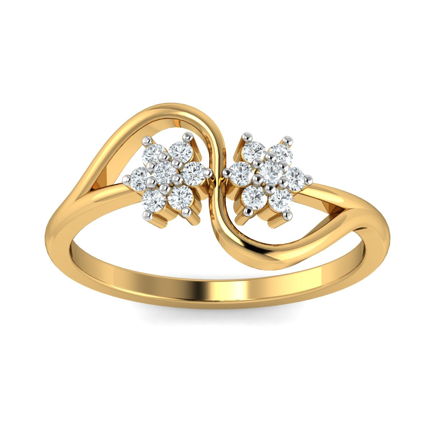 174cc3afed3 Diamond Ladies Ring Real Certified Diamond 0.21 Ct 14k Solid Gold Daily Wear