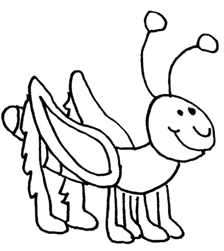 Cartoon Grasshopper Coloring Pages | Kids Coloring Pages | Pinterest ...