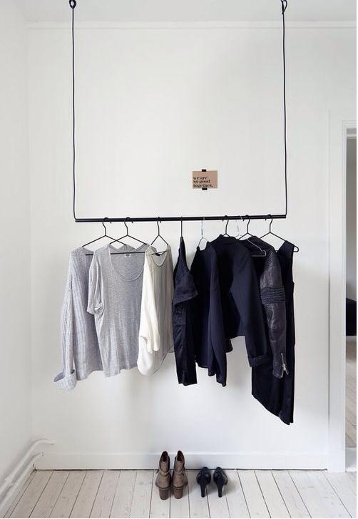 Vorhangstange Seil Aufhängung Garderobe Interior