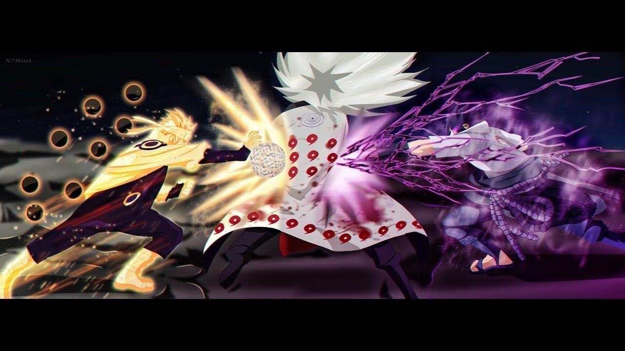 naruto rikudo and sasuke rinnegan vs madara rikudou english sub