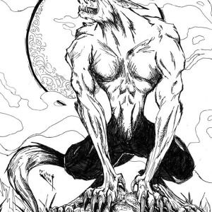 werewolf howling werewolf picture coloring page howling werewolf picture coloring page - Werewolf Coloring Sheet