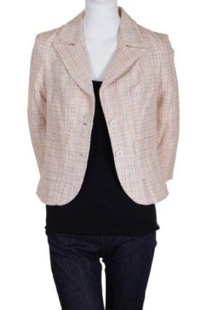 Dm Bm Woven Front Pockets Notched Collar Cropped Jacket Yellow Fuchsia $89.00