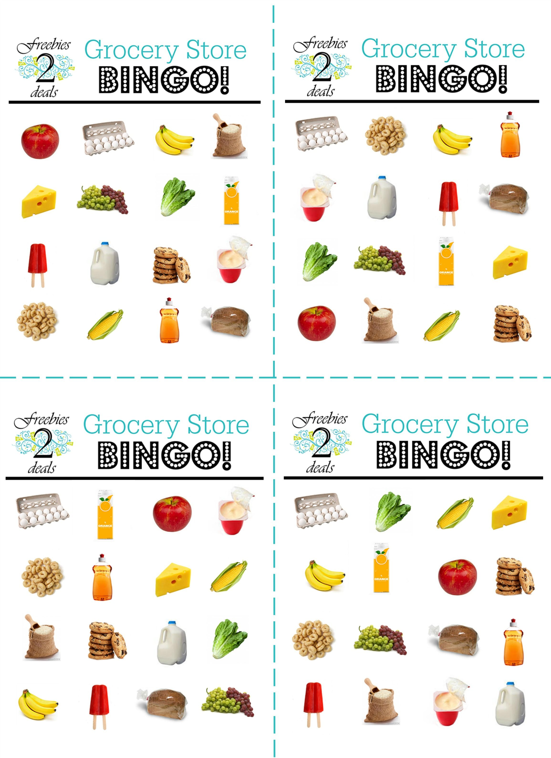 Grocery Store Bingo Keep Those Kiddos Busy While You Shop
