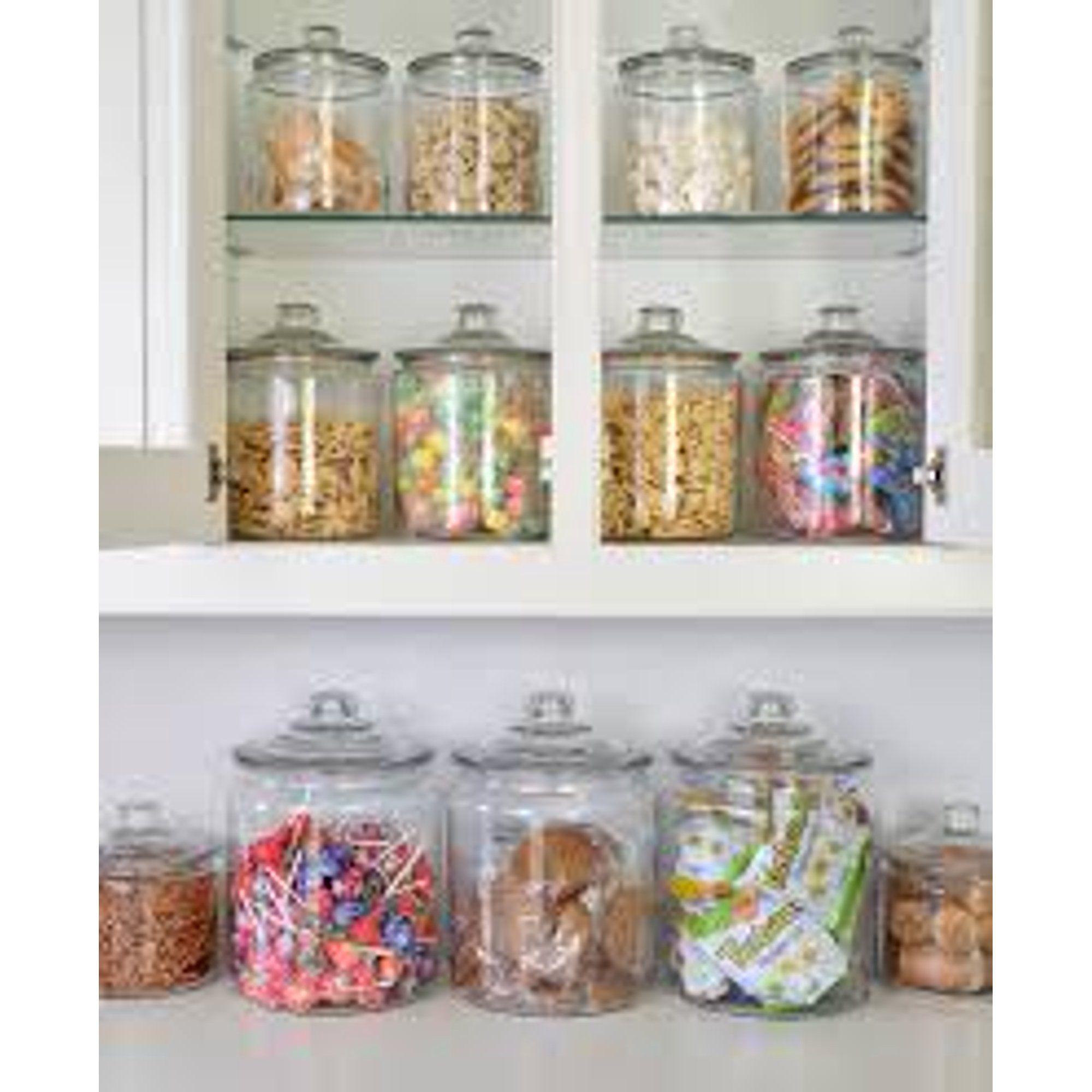 Anchor Hocking Glass Storage Heritage Hill Jar 1 Gal Walmart Com In 2021 Glass Storage Glass Jar Storage Jar Storage