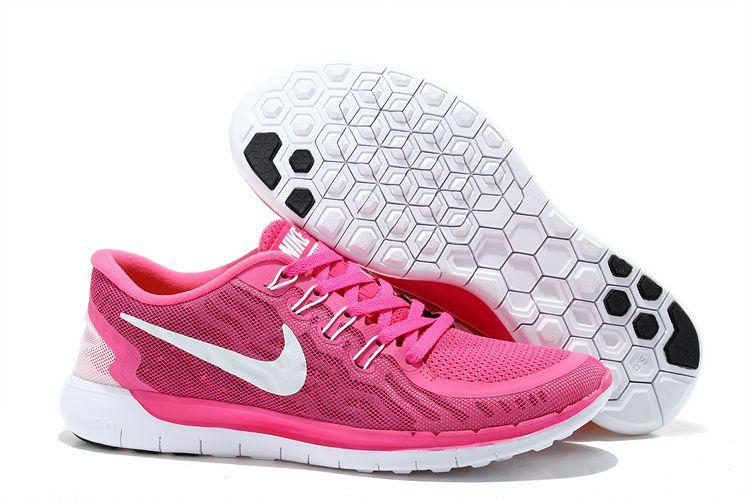 Nike Free 5.0 Women Dark Pink Training Shoes Discount