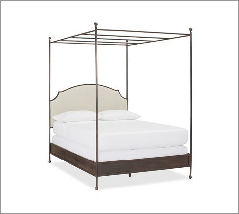 Aberdeen Canopy Bed Canopy Metal Bed With Upholstered Headboard Perfect Canopy Bedroom Canopy Bed Crib Canopy