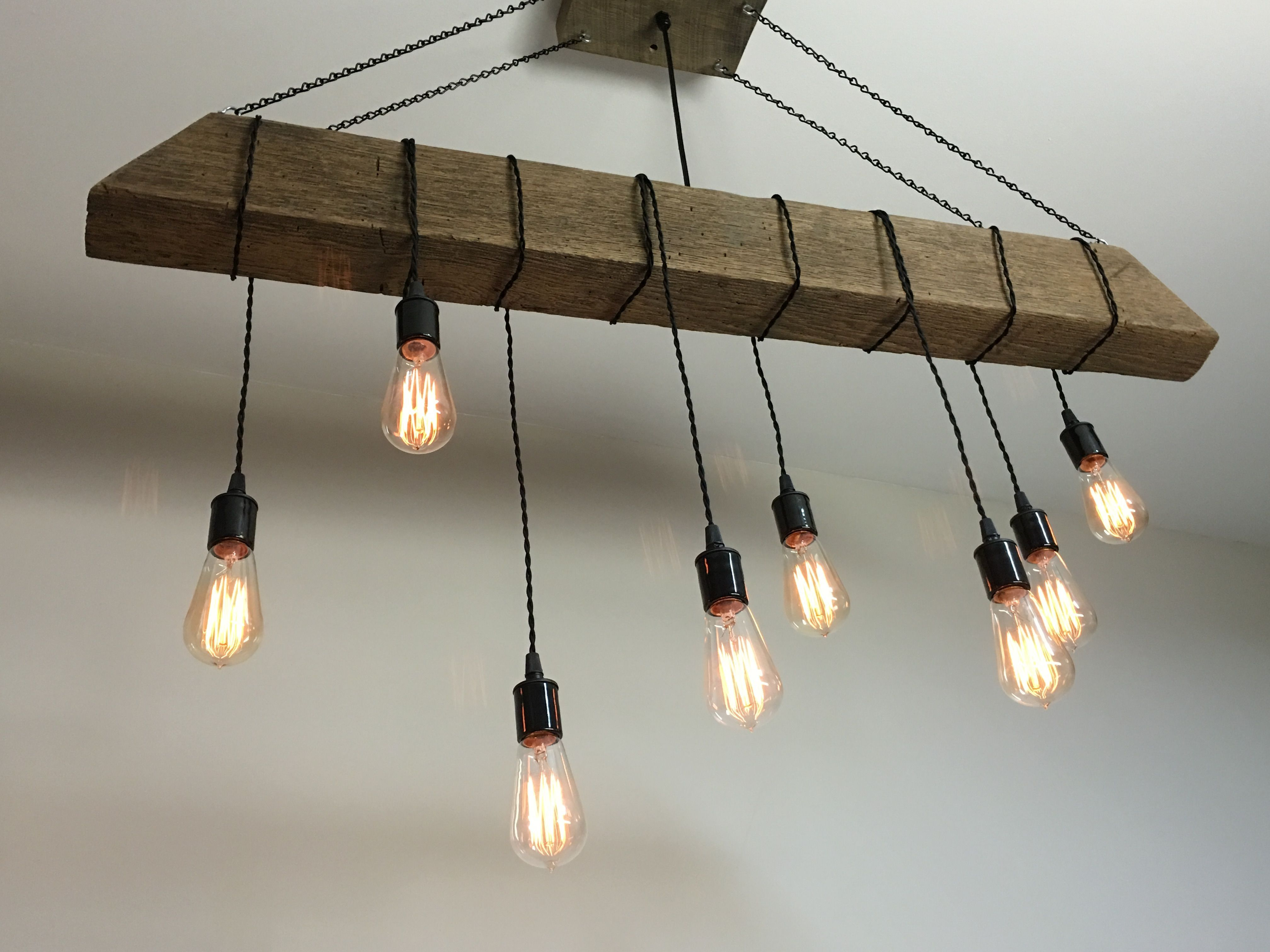 reclaimed lighting fixtures. Custom Made Reclaimed Barn Beam Light Fixture/Bar/Restaurant /Home. Edison Bulb Lighting Fixtures Pinterest
