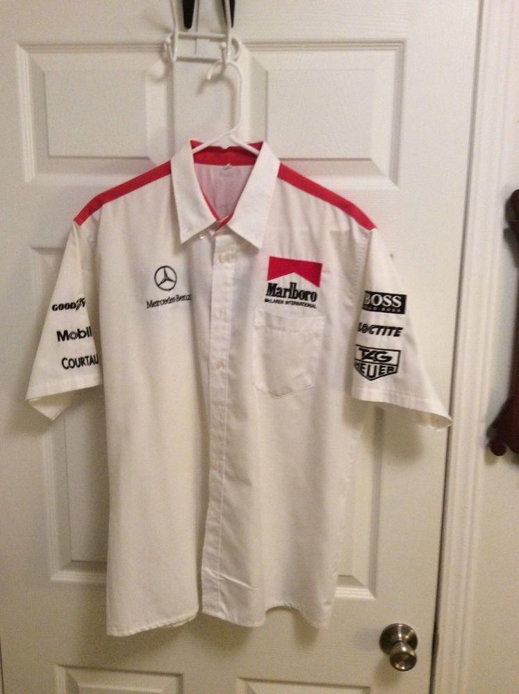 ebay #sponsored formula 1 shirt - marlboro/mclaren/mercedes pit crew