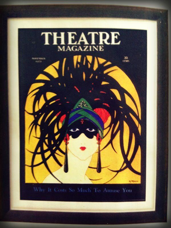 Theatre Masks Magazine, USA -1920 Art.com   theatre masks ...