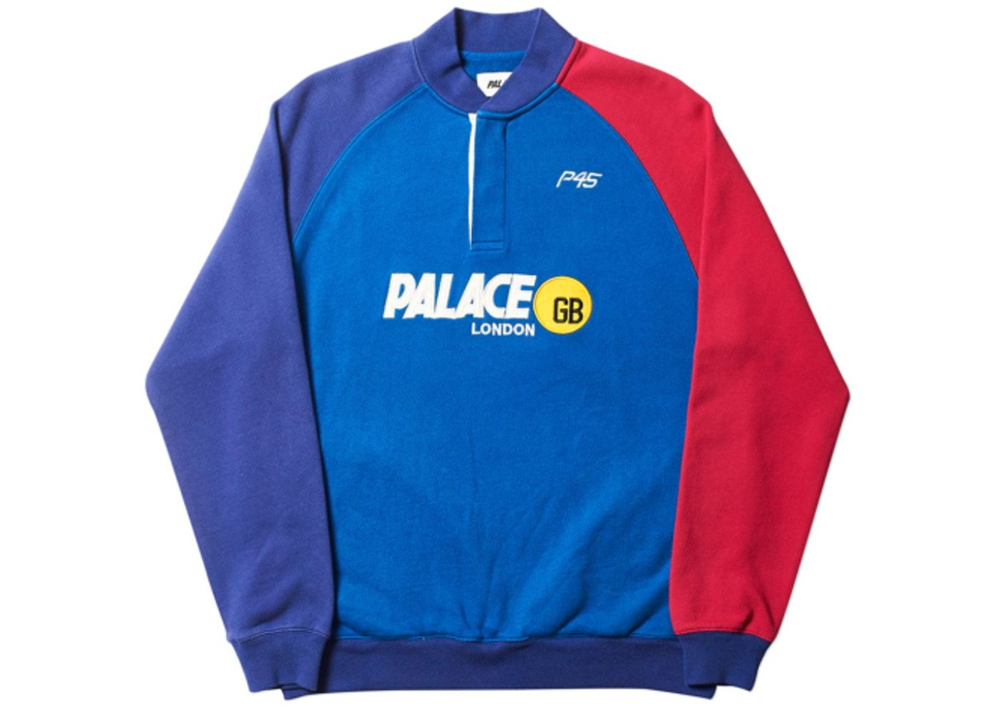 143d50d6 Palace P45-GB Sweat Blue | Color | Palace, Blue, Adidas jacket