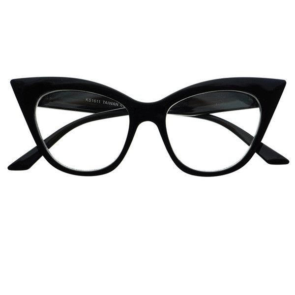83ee368508 Retro Vintage Womens Fashion Clear Lens Cat Eye Glasses Frames C1150 found  on Polyvore featuring accessories