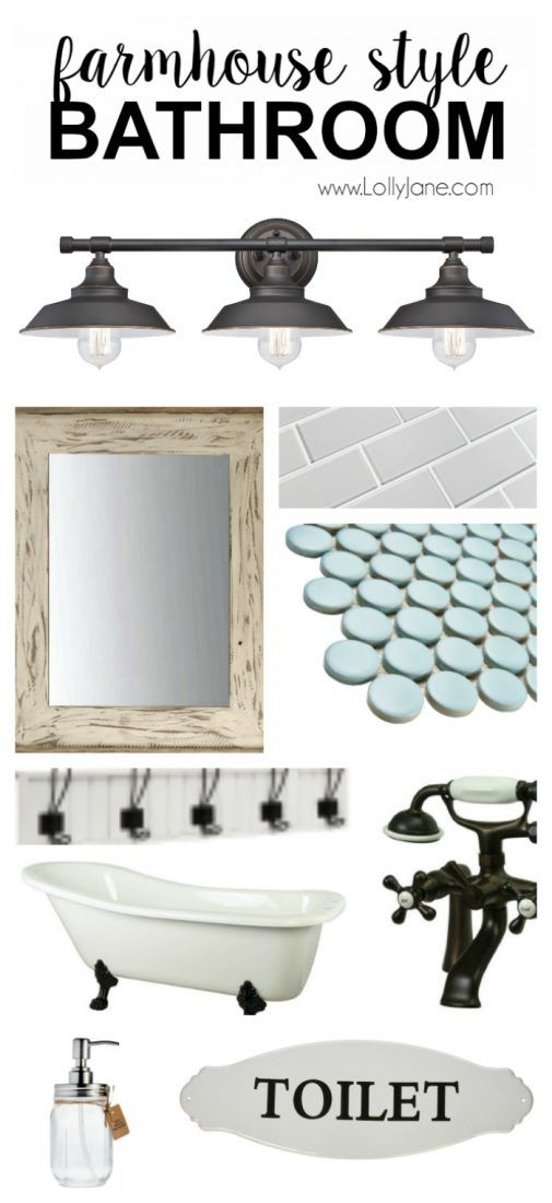 Awesome Farmhouse Style Bathroom Accessories. Want To Replicate The Popular  Farmhouse Style Bathroom? Here Are