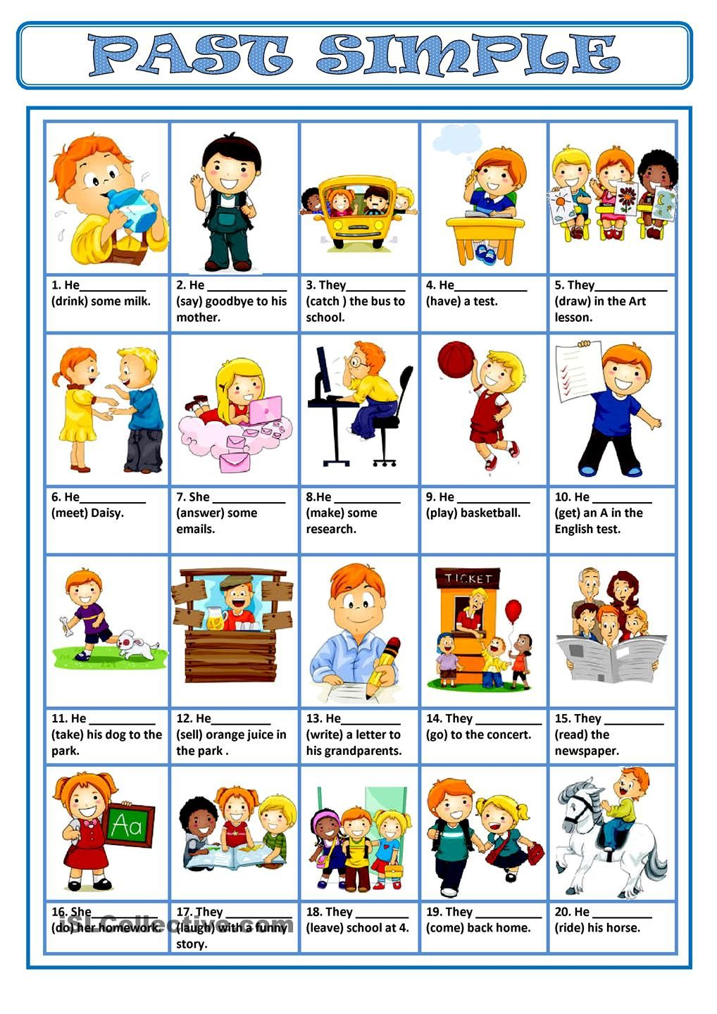 Workbooks simple fill in the blank worksheets : PAST SIMPLE | FREE ESL worksheets | past simple | Pinterest ...