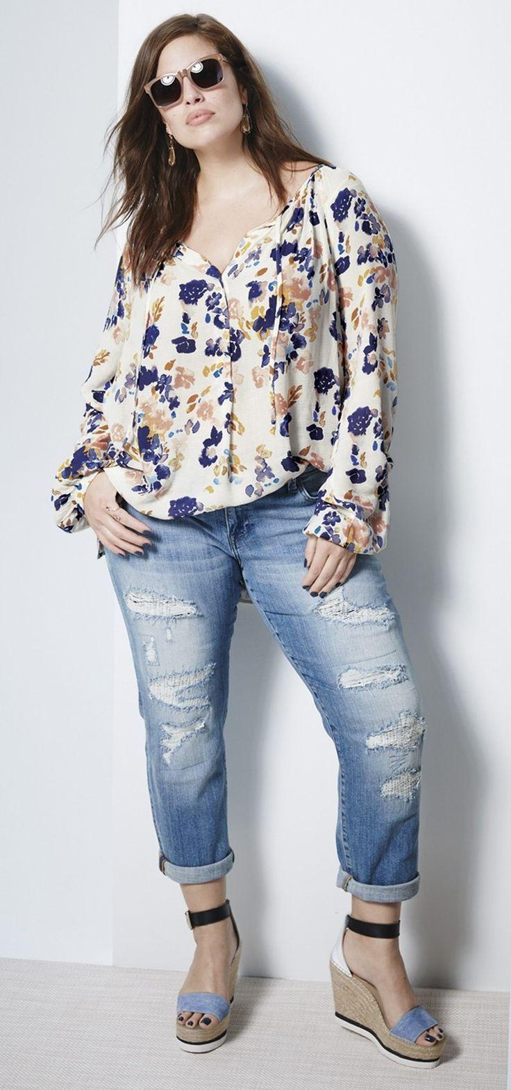 509cce967bb Plus Size Fashion - Plus Size Outfit - Plus Size Peasant Top